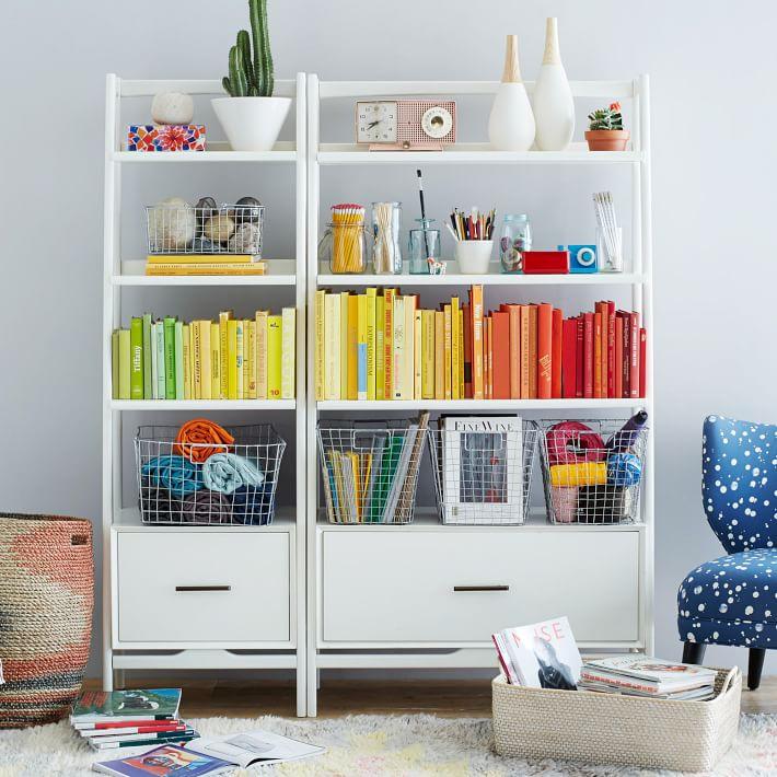 West Elm Mid Century 38 Bookshelf, Living Room Bookcases & Built-In